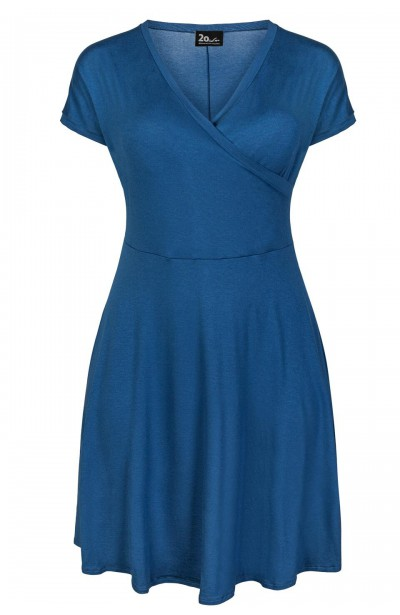 BLANCA BLUE wygodna sukienka plus size