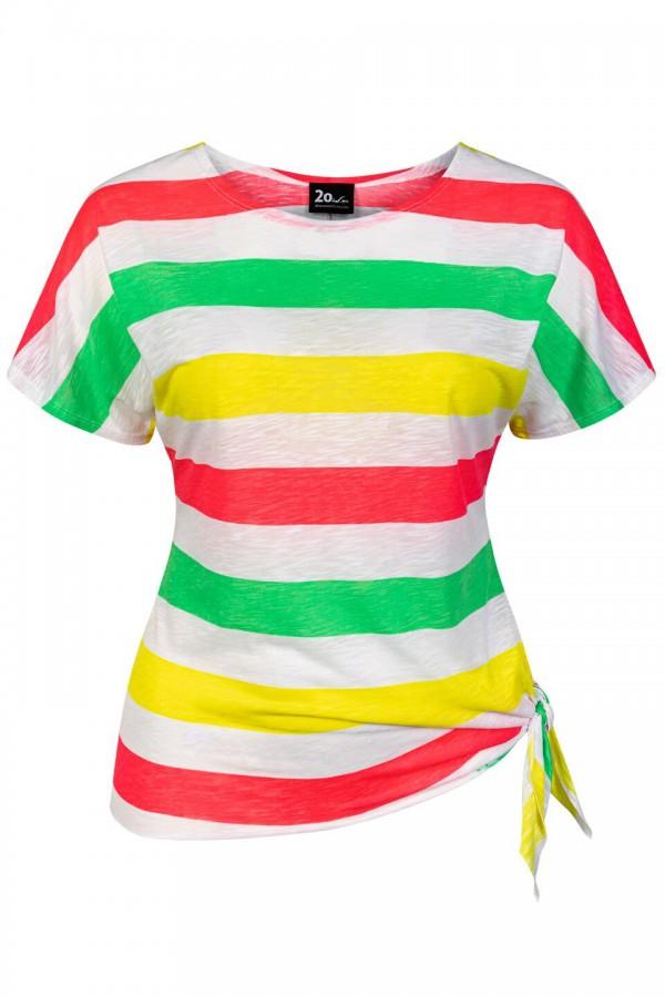 SUSAN kolorowy top plus size z bawełny