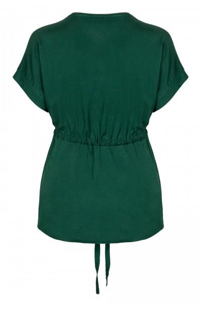 PEGGY GREEN wygodna koszula plus size z wiązaniem