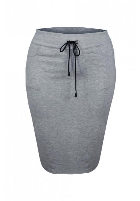 LAYLA GRAY dresowa spódnica plus size z wiązaniem
