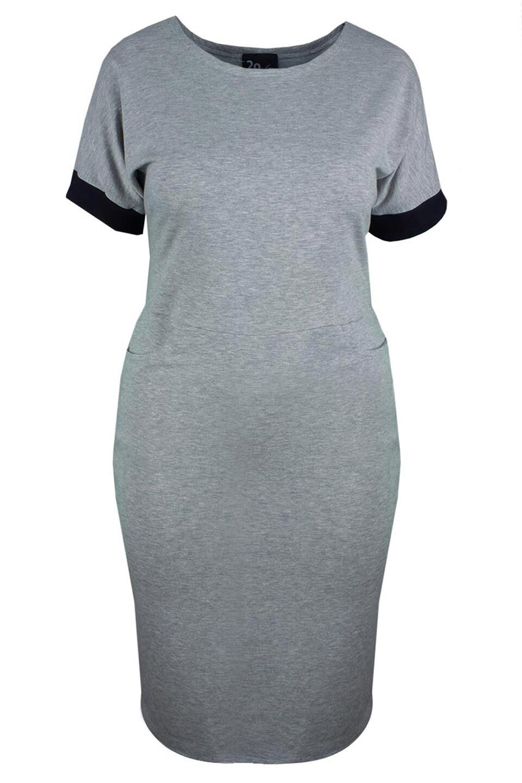VERA GRAY dresowa sukienka plus size