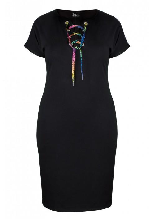 LUCA BLACK t-shirtowa sukienka plus size