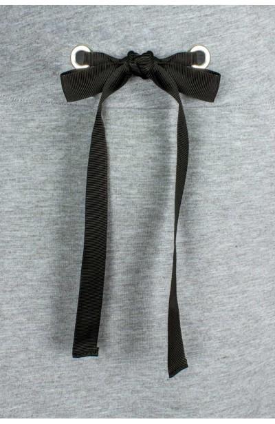 AYA GRAY długa spódnica plus size z kieszeniami