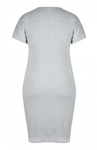 LUCA GRAY t-shirtowa sukienka plus size