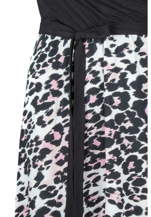 LIVIA maxi sukienka plus size w cętki