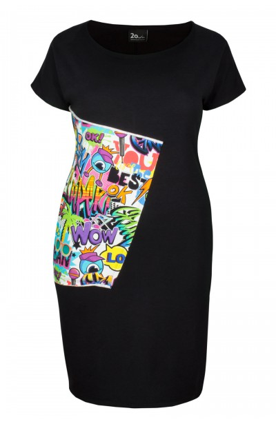 DOLORES BLACK ołówkowa sukienka plus size