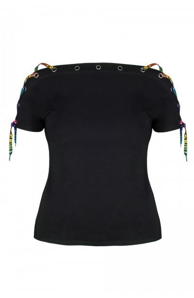 BONITA BLACK modny top plus...