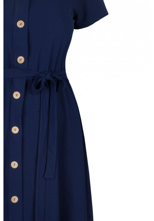 CAMILLA NAVY zwiewna sukienka plus size na lato
