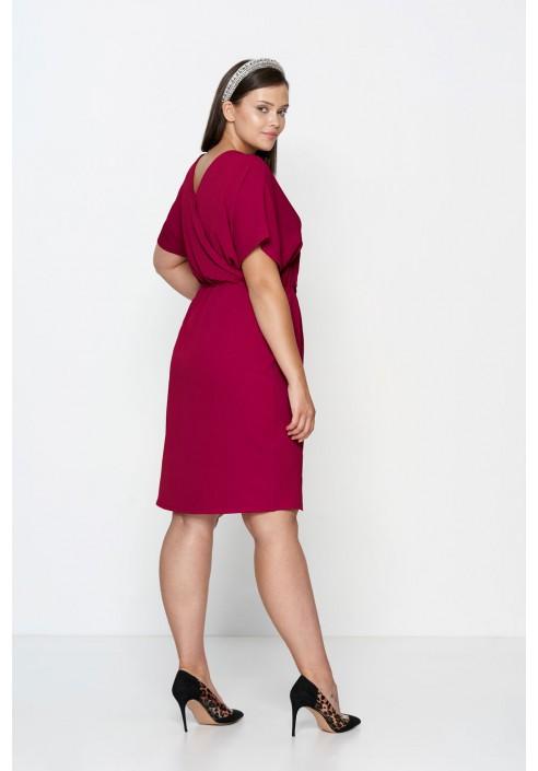 CHIARA FUKSJA elegancka sukienka plus size