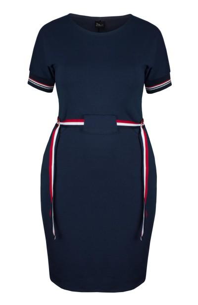 TIFFANY NAVY sportowa sukienka plus size