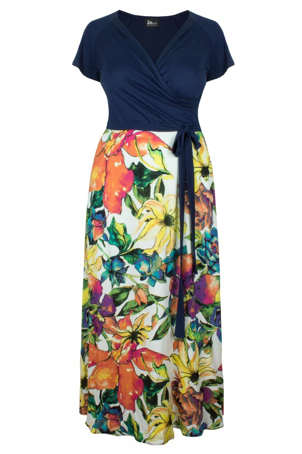 LIVIA FLOWER maxi sukienka plus size w kwiaty