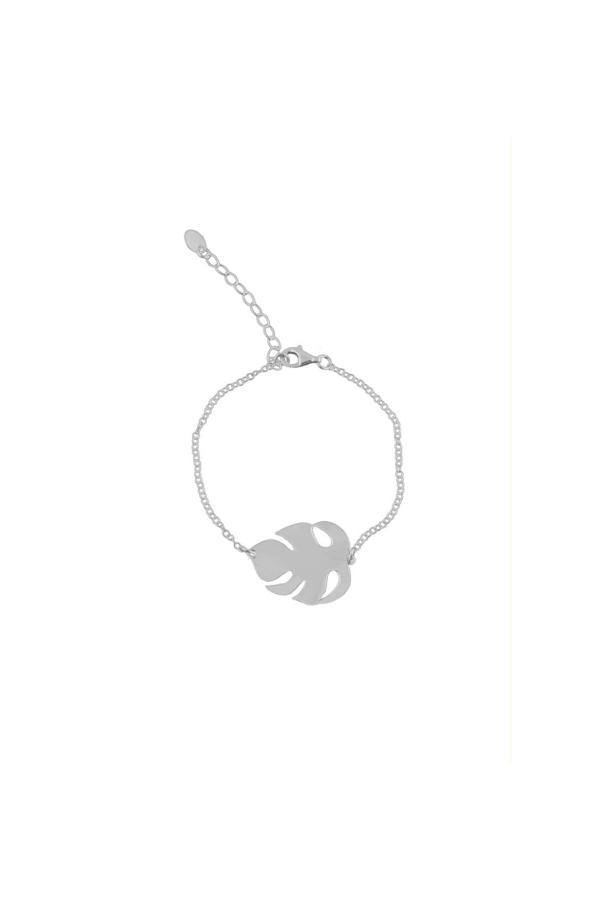 LEAF BRAN SILVER minimalistyczna bransoletka