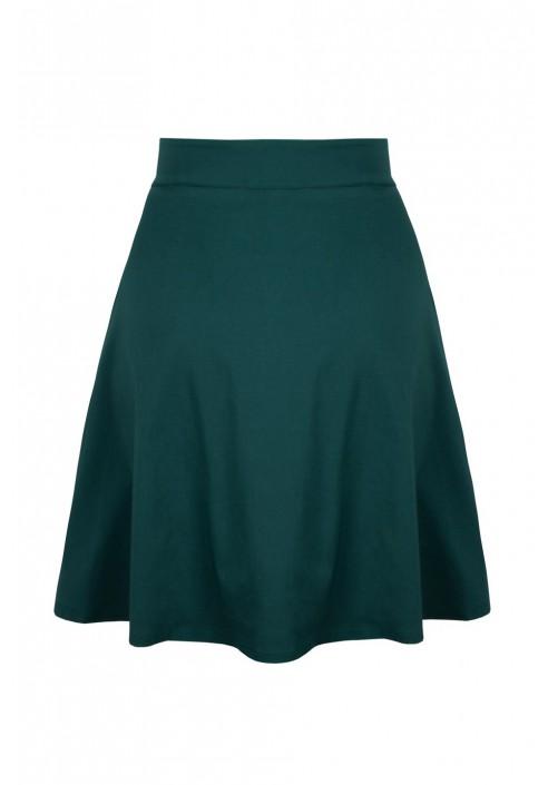 SONJA EMERALD rozkloszowana spódnica plus size