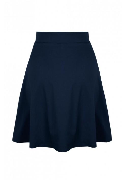 SONJA NAVY rozkloszowana spódnica z kieszeniami