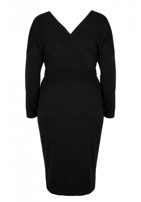ISLA BLACK swetrowa sukienka plus size