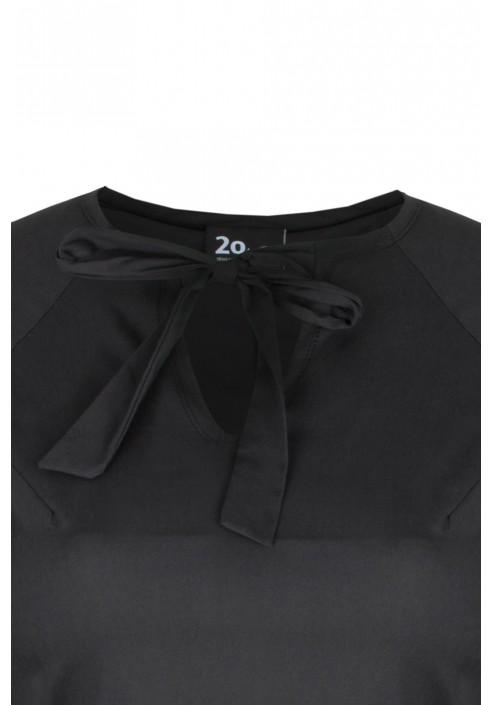 INES BLACK elegancka tunika plus size z baskinką