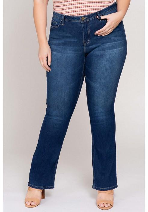 AVA NAVY modne jeansy plus size