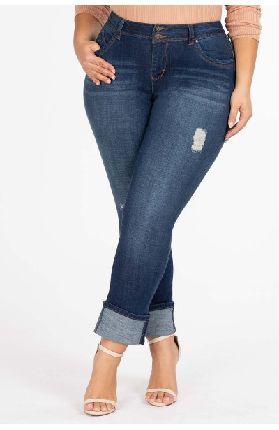 GERRY NAVY jeansy plus size...
