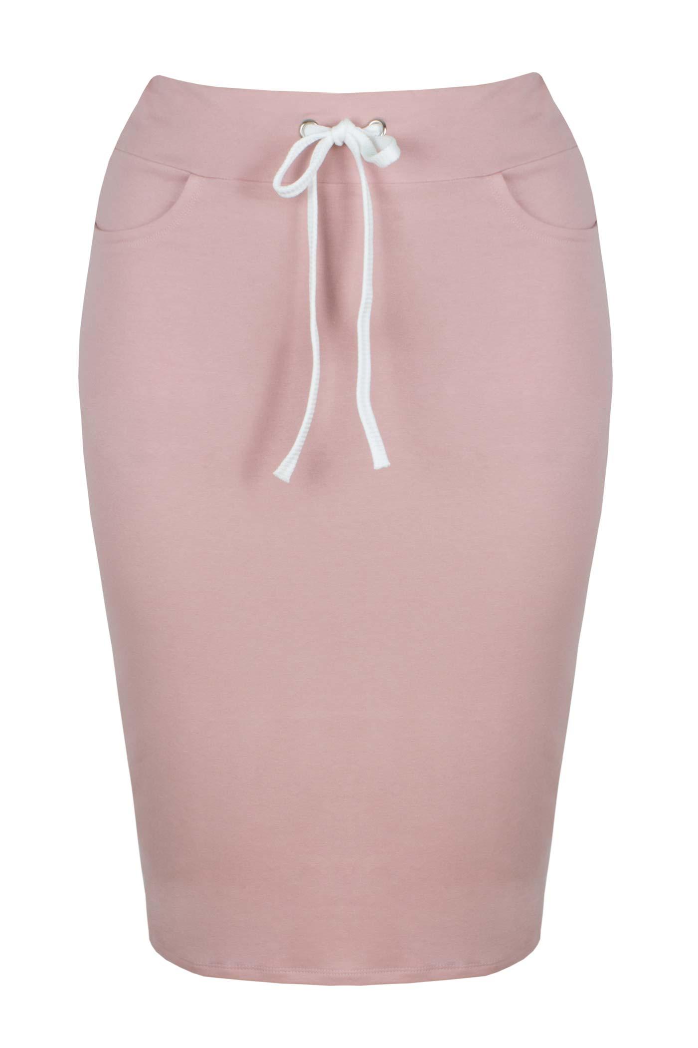 LAYLA PINK dresowa spódnica plus size