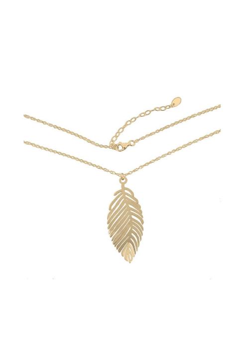 FERN GOLD minimalistyczny naszyjnik z przywieszką