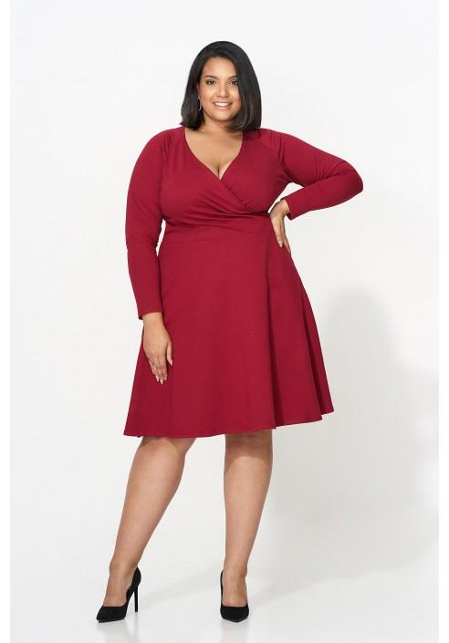 BRENDA WINE rozkloszowana sukienka plus size
