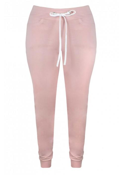 BROOKLYN PINK dresowe spodnie plus size