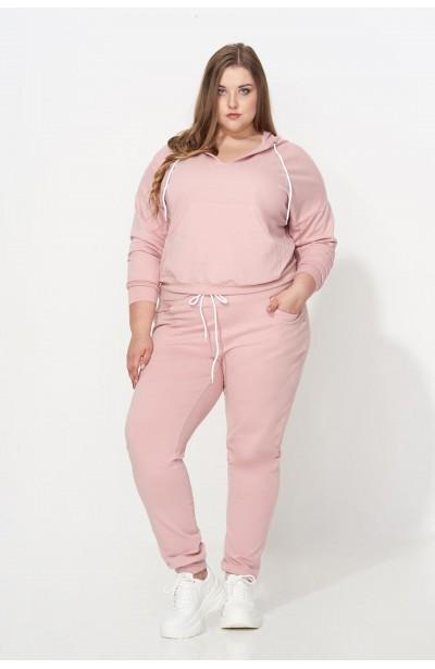 TANJA PINK wygodna bluza plus size z kapturem