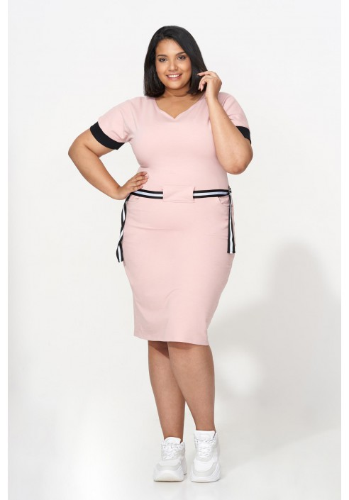 TIFFANY PINK dresowa sukienka plus size