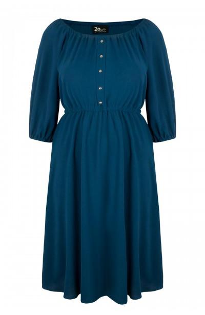 OFELIA MARINE rozkloszowana sukienka plus size