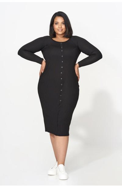 GABRIELLE BLACK ołówkowa sukienka plus size