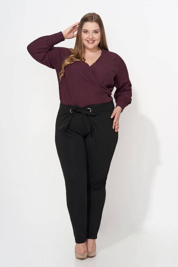CHARLIE BLACK wiązane spodnie plus size