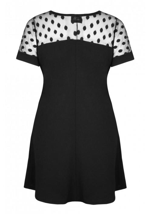 PRISCILLA BLACK tiulowa sukienka plus size