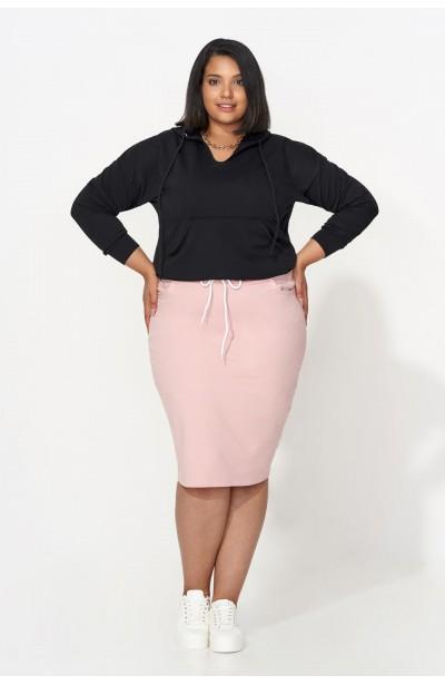 TANJA BLACK wygodna bluza plus size z kapturem