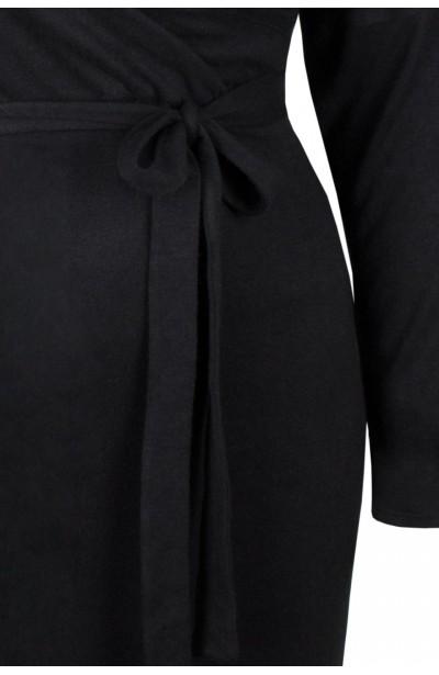ISLA ołówkowa sweterkowa sukienka plus size