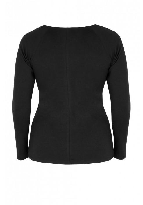 TIARA BLACK wygodna bluzka plus size