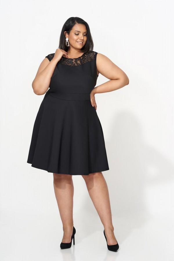 CYNTIA BLACK elegancka sukienka plus size