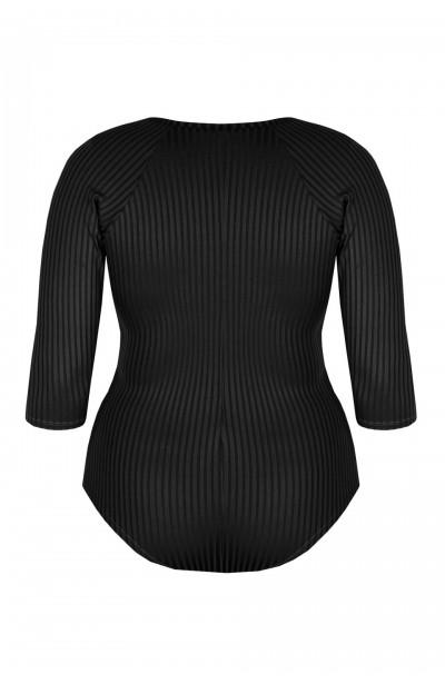 ANDREA BLACK minimalistyczne body plus size