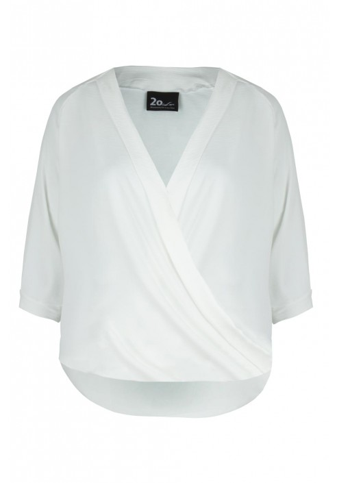 LAURA ECRU elegancka bluzka plus size