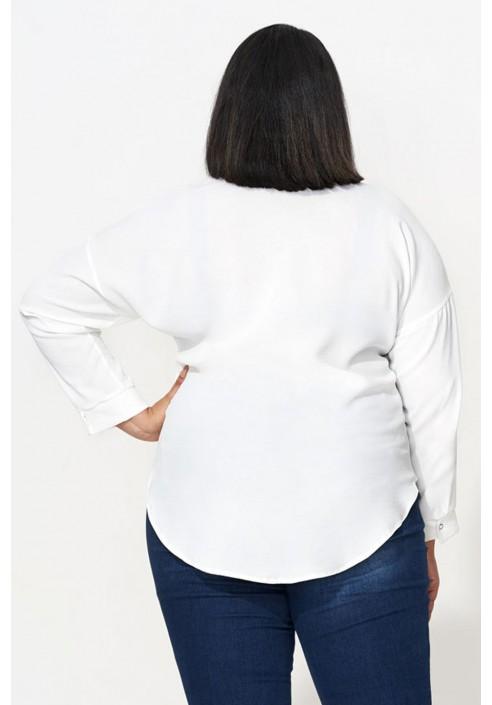 VIOLETTE ECRU elegancka koszula plus size