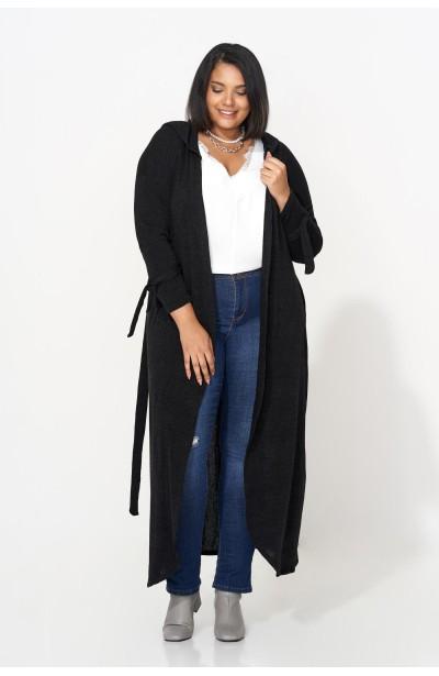 DORA BLACK długi sweter...