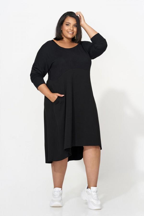 TAMARA BLACK wygodna sukienka plus size