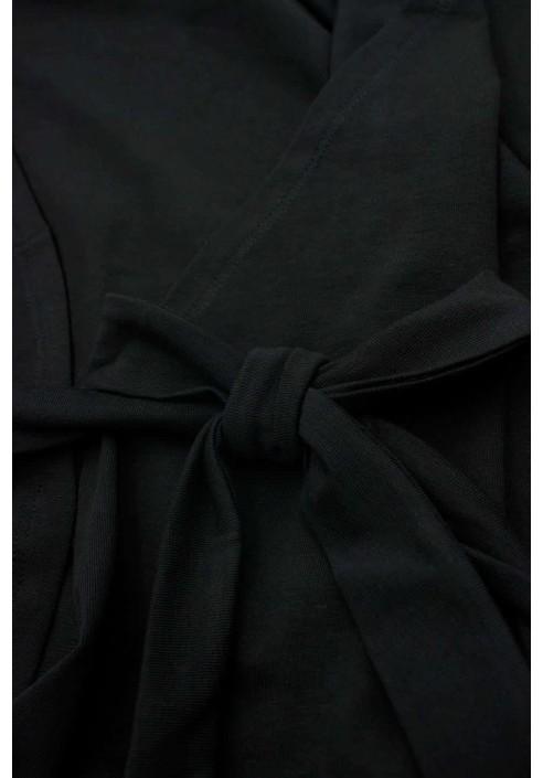 JASMIN BLACK szlafrok plus size z koronką