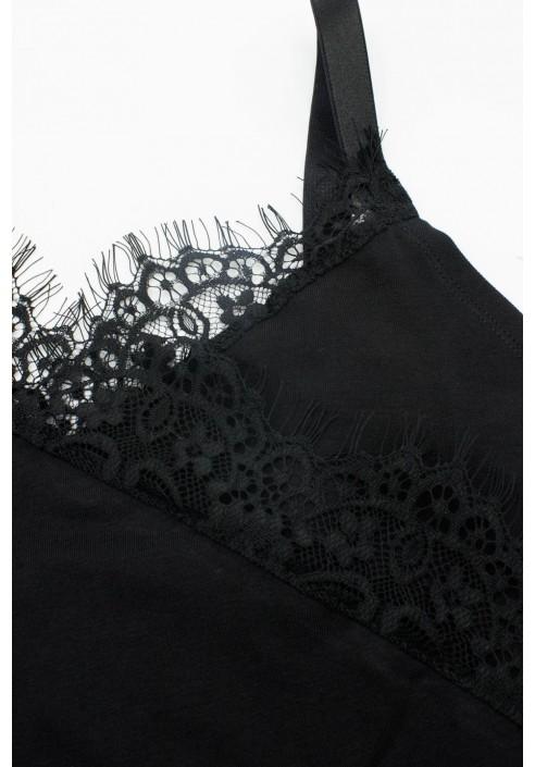 MUNA BLACK koszula nocna plus size