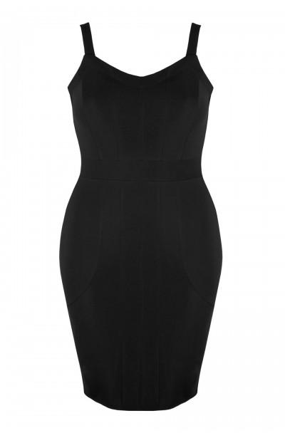 ALEXA BLACK obcisła sukienka plus size