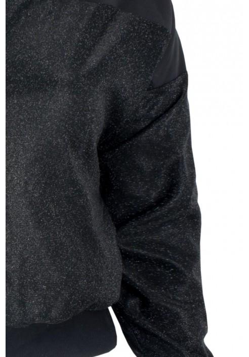 OLENA BLACK błyszcąca bomberka plus size
