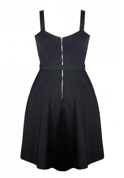 ZOJA BLACK rockowa sukienka plus size