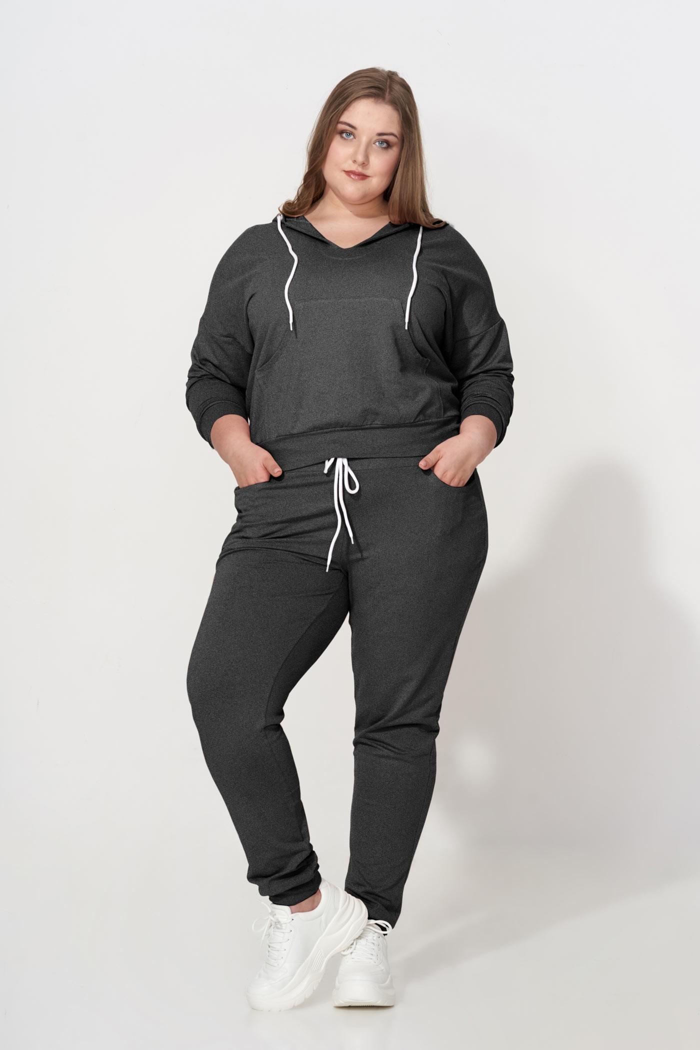 BROOKLYN GRAY wygodne spodnie plus size