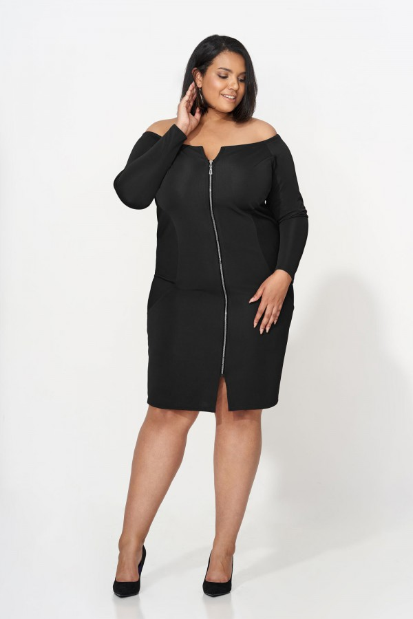 ARABELLA BLACK zmysłowa sukienka plus size