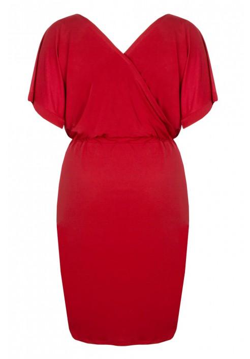 CHIARA RED elegancka sukienka plus size