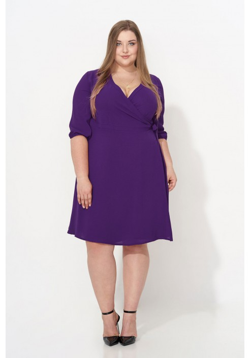 ALLISA VIOLET kopertowa sukienka plus size